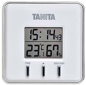 タニタ デジタル温湿度計 置き掛け両用タイプ/マグネット付 ホワイト TT-550-WH