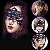 raffinare ベネチアンマスク ハロウィン レース アイマスク 仮面 黒 8枚セット
