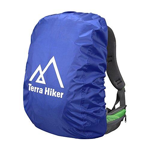 Terra Hike レインカバー 雨よけ リュックカバー 防水性 軽量 (ブルー S)