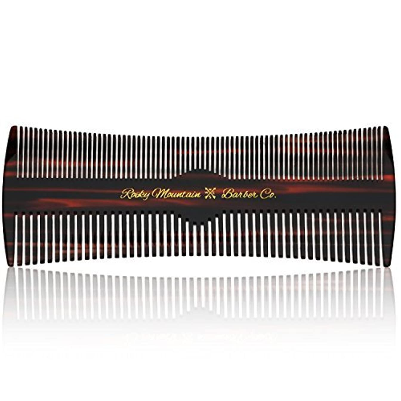 Hair Comb - Fine and Medium Tooth Comb for Head Hair, Beard, Mustache - Warp Resistant, No Snag Design with Contour...