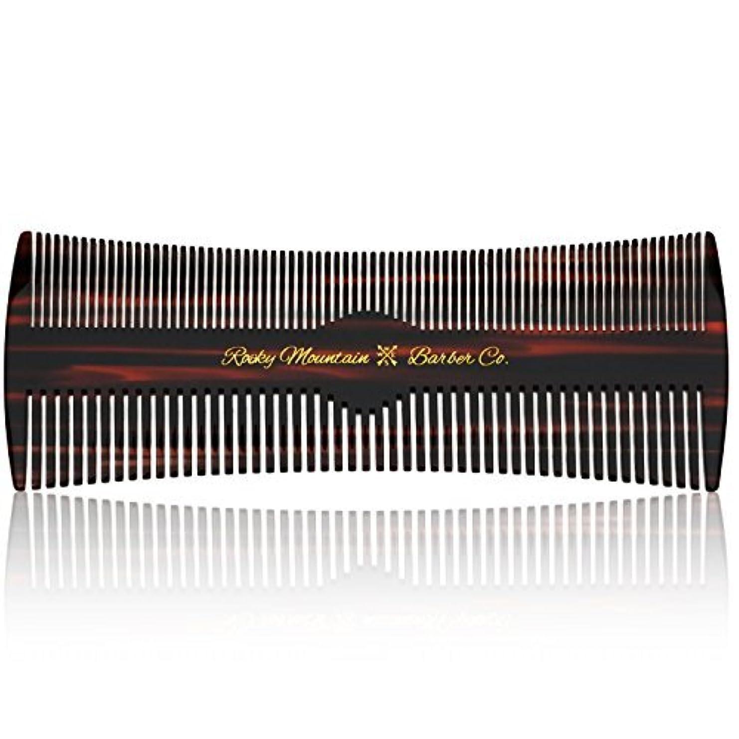 賢いミニチュア呪いHair Comb - Fine and Medium Tooth Comb for Head Hair, Beard, Mustache - Warp Resistant, No Snag Design with Contour...