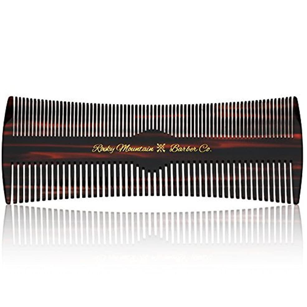 記念品政治家ポットHair Comb - Fine and Medium Tooth Comb for Head Hair, Beard, Mustache - Warp Resistant, No Snag Design with Contour...