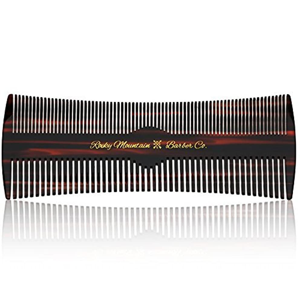の地味な合理的Hair Comb - Fine and Medium Tooth Comb for Head Hair, Beard, Mustache - Warp Resistant, No Snag Design with Contour...