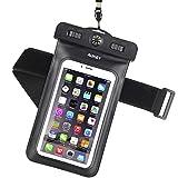 Aukey 防水ケース アームバンド スマホ用 羅針盤付き iPhone 6S/6S Plus/6/ Samsung Galaxy/Nexus/Sonyなど対応 PC-T6