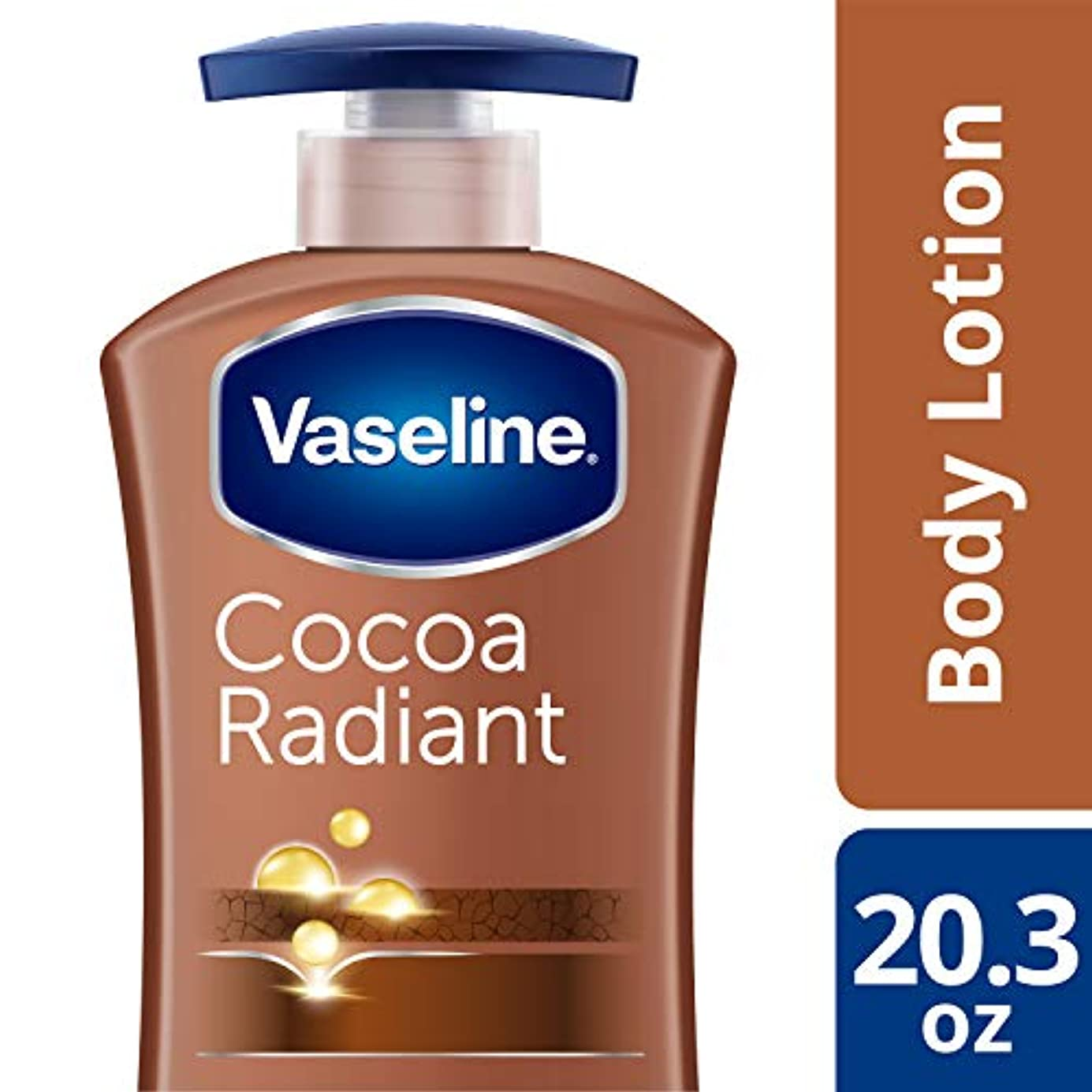 旋律的壮大な上級Vaseline Intensive Care Lotion, Cocoa Radiant 20.3 Oz