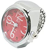 1stモール ステンレス サイズフリー 指輪時計 クロックリング リングウォッチ [ レッド ] ST-NBW0RI6873-RD