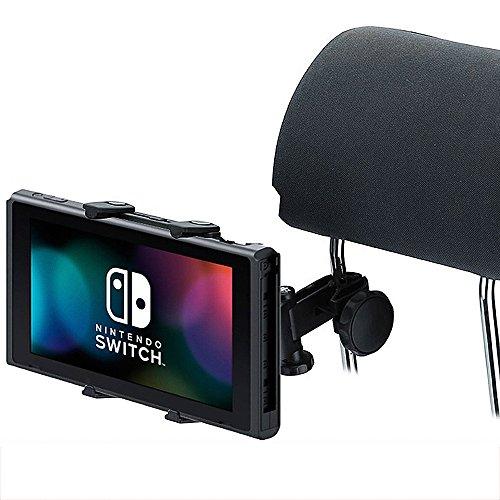 Switch用車載ホルダー 後部座席用 iDudu Nintendo Switch ヘッドレストホルダー (Switch後部座席用, ブラック)