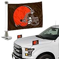 Promark NFL Cleveland Brownsフラグセット2piece Ambassador stylecleveland Brownsフラグセット2piece Ambassadorスタイル、チームカラー、1サイズ