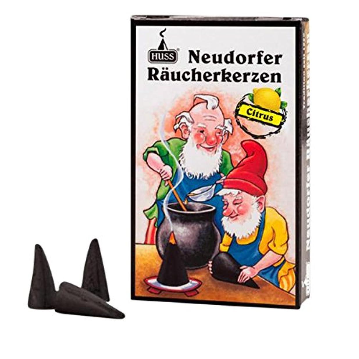 詳細な主人警告するHuss Incense Cones for German Incense Smoker – Citrus – 環境にやさしいドイツのハンドメイド