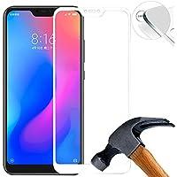 (2枚入り) Lusee 全面保護カバーガラス 対して Xiaomi Mi A2 Lite 5.84 インチ 用 強化ガラスフィルム 実物に基づいて製造する採用0.33mm 強化ガラス ラウンドカッティング 硬度9H ラウンドエッジ加工 ン耐指紋 撥油性 高透過率液晶保護フィルム (ホワイト)