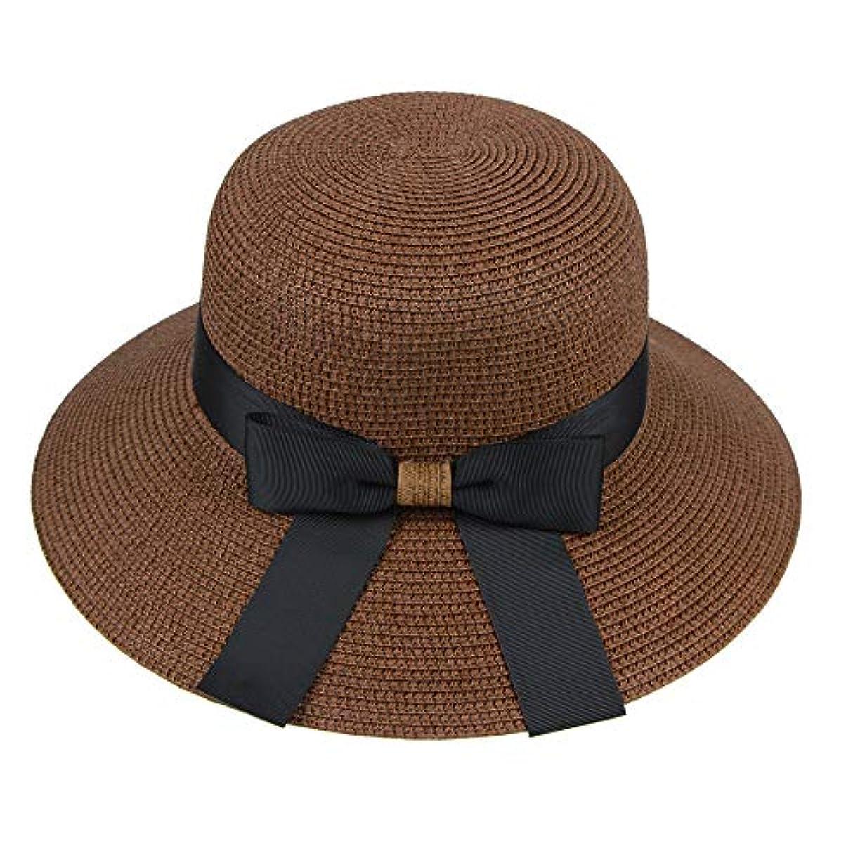 傑出した円周降下漁師帽 帽子 レディース UVカット 帽子 夏季 海 旅行 UV帽子 日焼け防止 つば広 取り外すあご紐 おしゃれ 可愛い ワイルド カジュアル スタイル ファッション シンプル 夏 ビーチ 必須 小顔効果 ROSE ROMAN