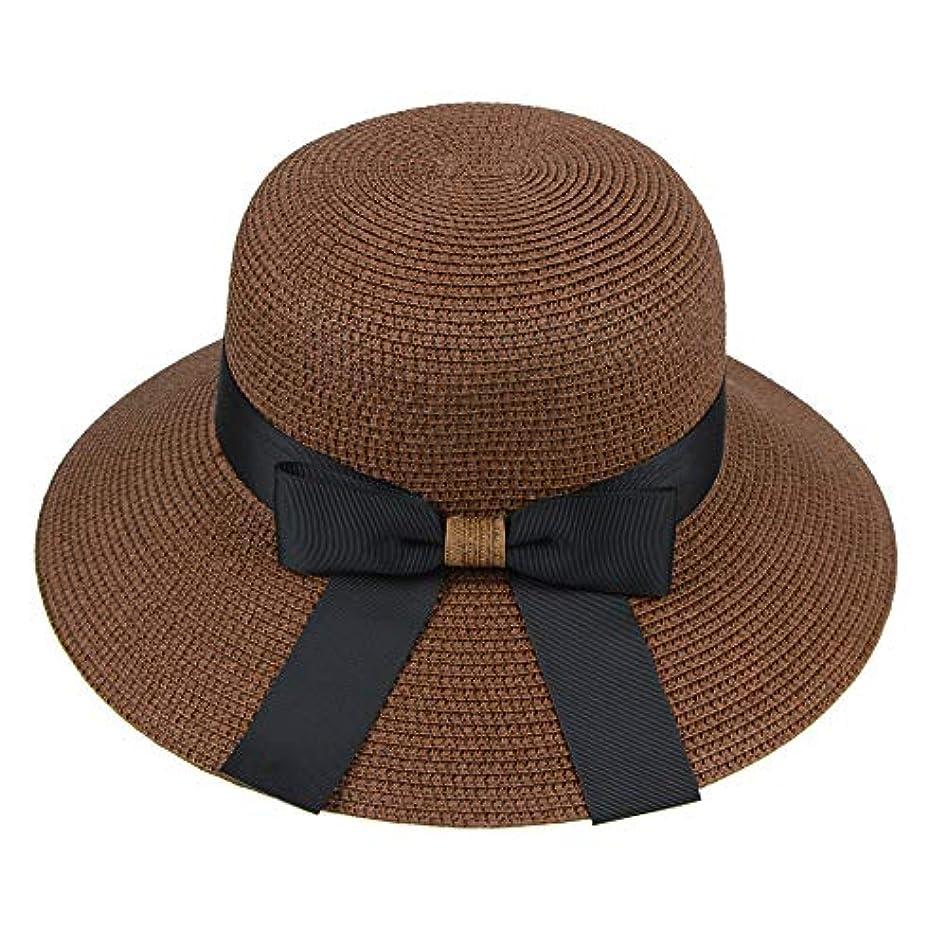 デッキカフェ不純漁師帽 帽子 レディース UVカット 帽子 夏季 海 旅行 UV帽子 日焼け防止 つば広 取り外すあご紐 おしゃれ 可愛い ワイルド カジュアル スタイル ファッション シンプル 夏 ビーチ 必須 小顔効果 ROSE ROMAN