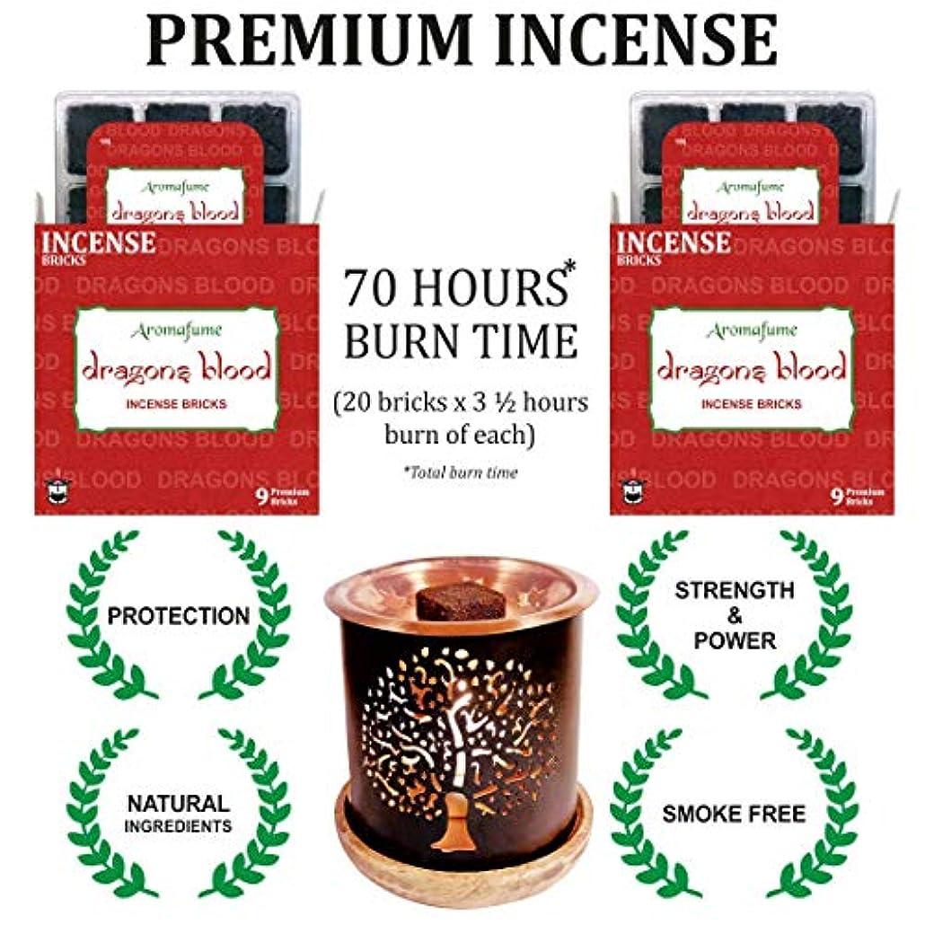 連鎖怠惰地元アロマフュームインセンスブリック + エキゾチックな香炉 | 18個パック (9x2) | ホーム/ルームフレグランス | ギフト レッド