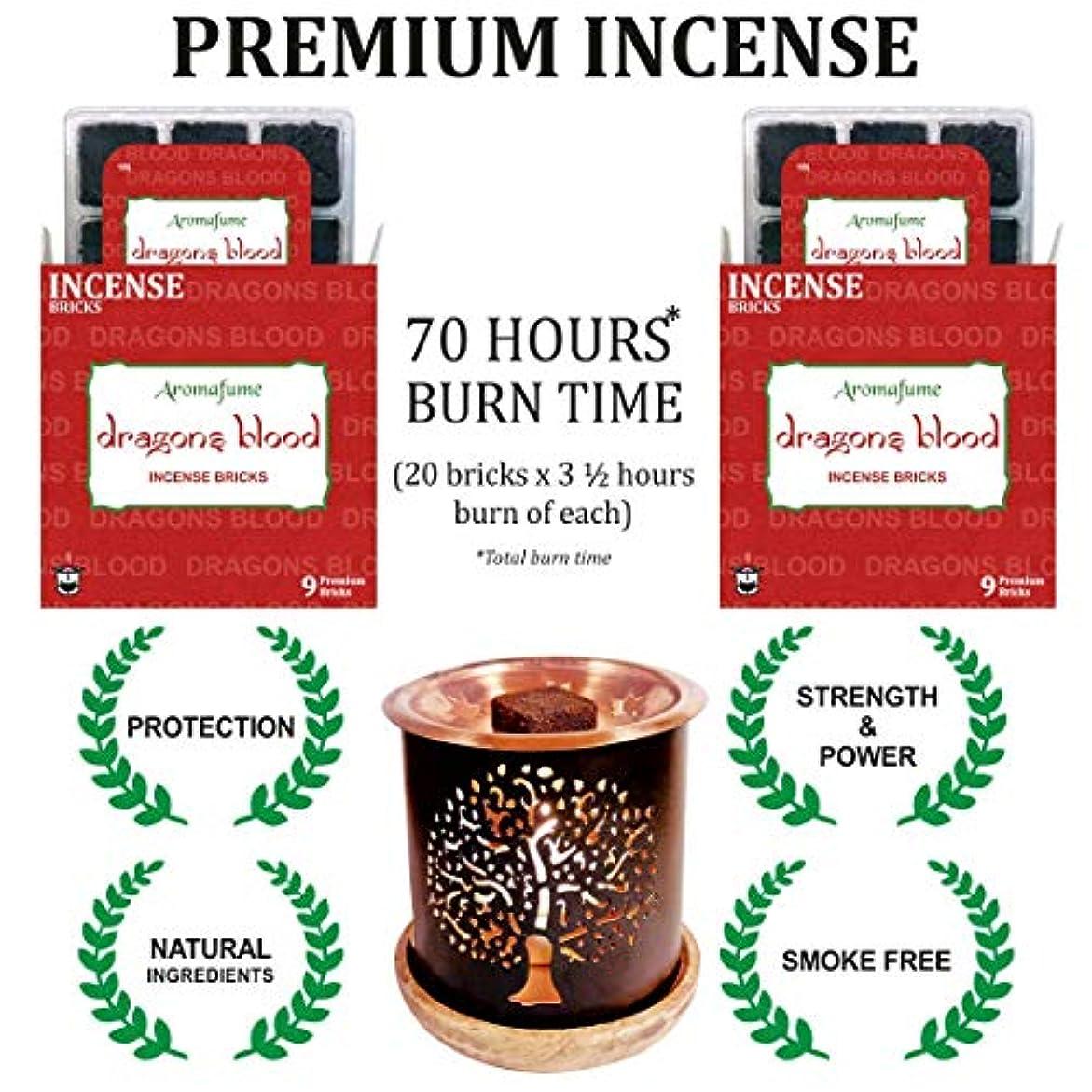 雄大な義務暖かくアロマフュームインセンスブリック + エキゾチックな香炉 | 18個パック (9x2) | ホーム/ルームフレグランス | ギフト レッド