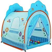 DD子供の再生テントベビーホームゲームハウスボールプール屋内と屋外使用可能Collapsible (ブルー、ピンク130120108 CMのパックの1 ) ブルー 14778