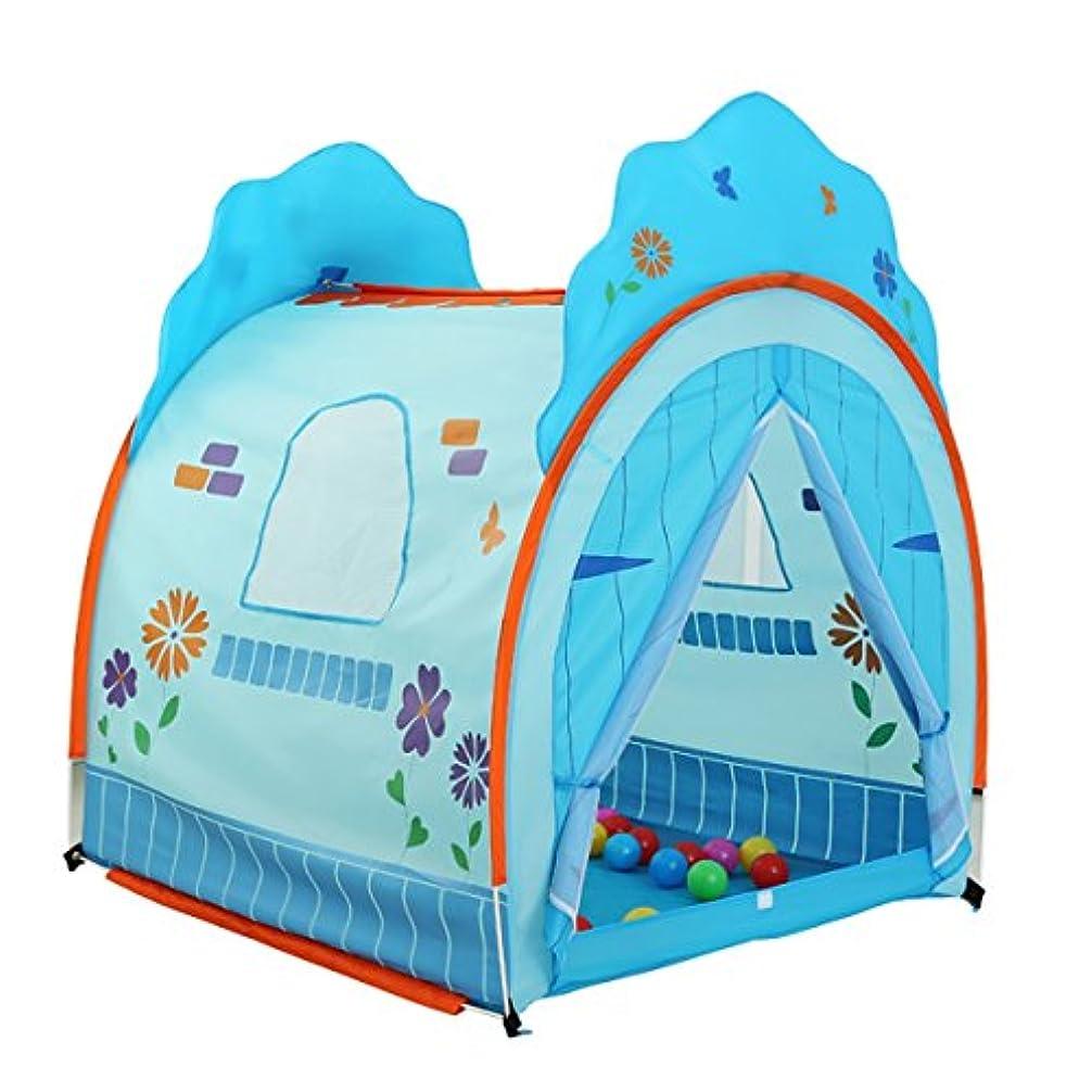偽造急襲呪われたLWT 子供の遊びテントベビーホームゲームハウスボールプール屋内と屋外で利用可能折り畳み式(青、ピンク130 * 120 * 108cmパッキング1) (Color : Blue)