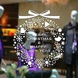 DRASAWEE(JP)ウールステッカー クリスマス おしゃれ クリスマスリース クリスマス窓飾り 壁紙 クリスマス用品 ホワイト