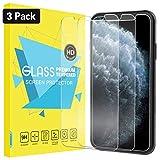 iPhone 11 Pro フィルム ATiC iPhone 11 Pro ガラスフィルム 5.8インチ iPhone 新型 2019 フィルム 表面硬度9H 耐衝撃 強化液晶保護フィルム 高透明度 貼付簡単 指紋防止 気泡ゼロ スマホフィルム 3枚セット Clear