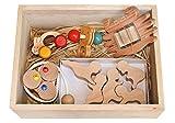 赤ちゃんのおもちゃ箱セット(Aタイプ)木のおもちゃ 知育玩具 0才、1才、2才、3才~出産祝いにお薦め♪ Wooden baby toys Boxes