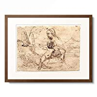 アンニーバレ・カラッチ Annibale Carracci 「Madonna with child, scooping water. Around 1606」 額装アート作品