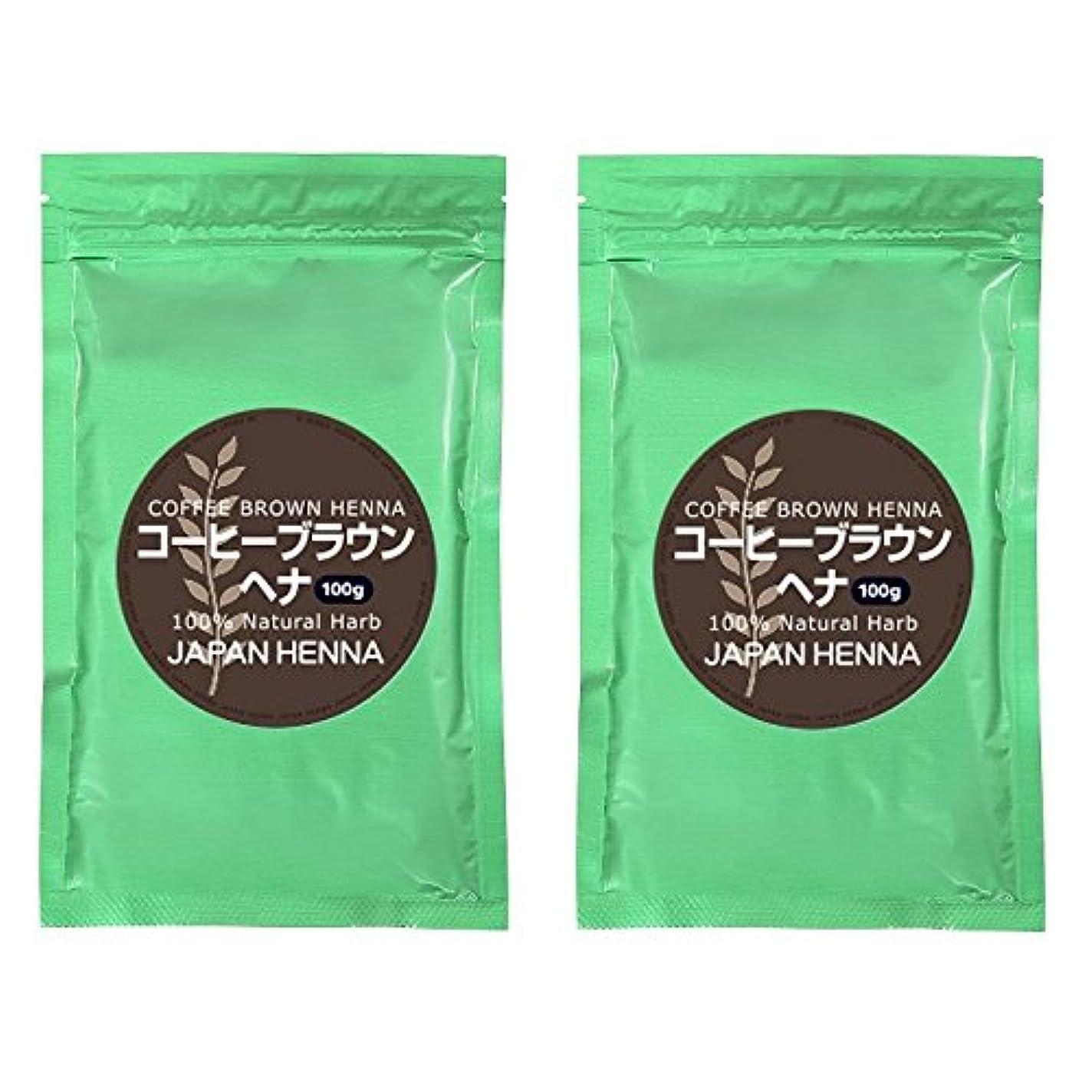 良性香りリーク【2個セット】 ジャパンヘナ 100g B-11 コーヒーブラウン ヘナカラー トリートメント