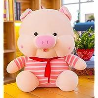 HuaQingPiJu-JP ぬいぐるみソフトストライプ布45cmの豚のおもちゃぬいぐるみの豚の人形ホームデコレーションキッドギフト(ピンク)