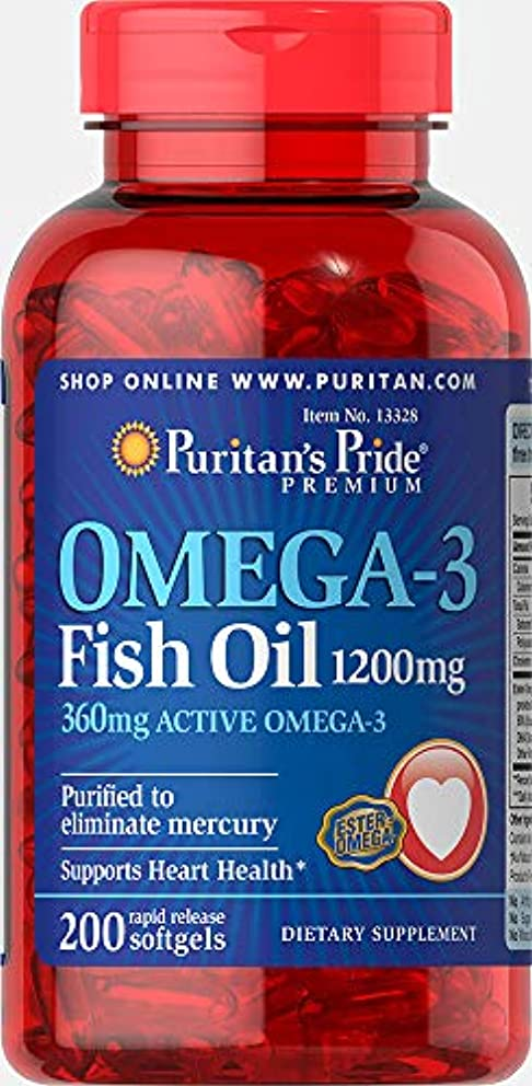 ライオネルグリーンストリート重なるエンターテインメントピューリタンズプライド(Puritan's Pride) オメガ3 魚油 フィッシュオイル 1200 mg.ソフトジェル
