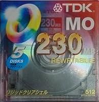TDK MO 230MB 5枚入り アンフォーマット
