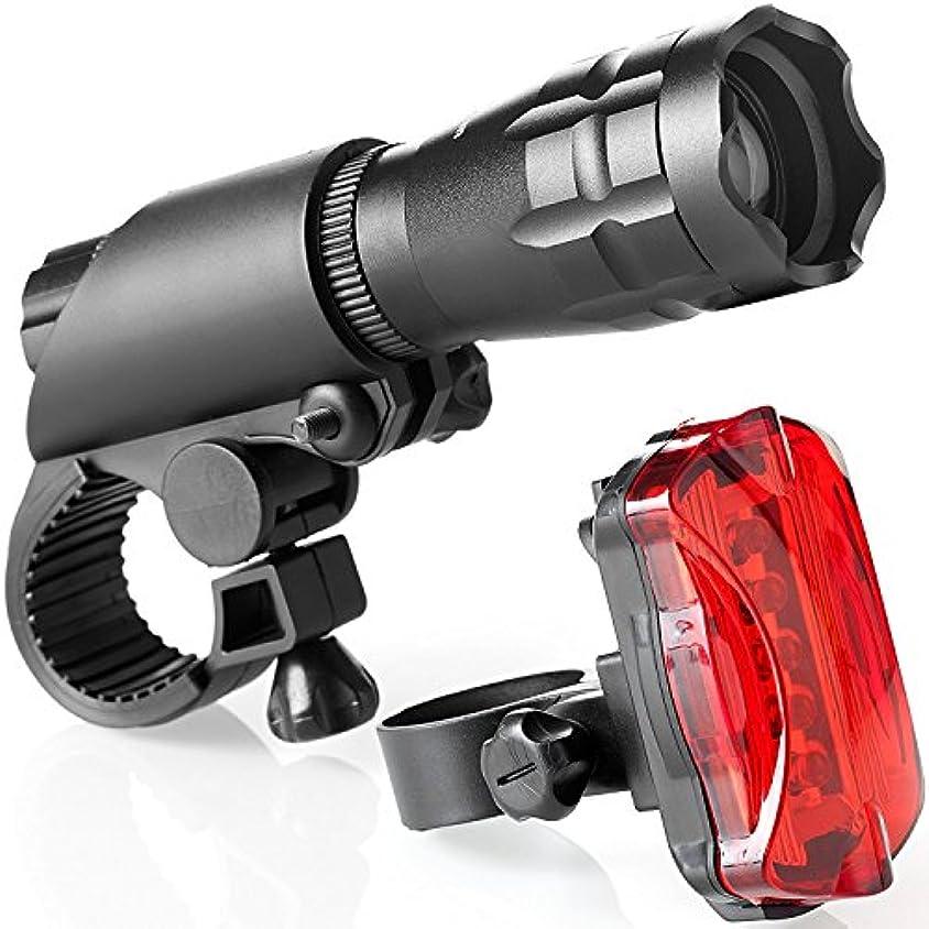 牛肉落ち着いた干渉AsDlg 自転車ライトセット強力な明るいLEDフロントライトフリーテールライトの取り付けが簡単、ロードサイクリング安全懐中電灯自転車ヘッドライト - すべての自転車に最適、フロントおよびリアサイクル照明