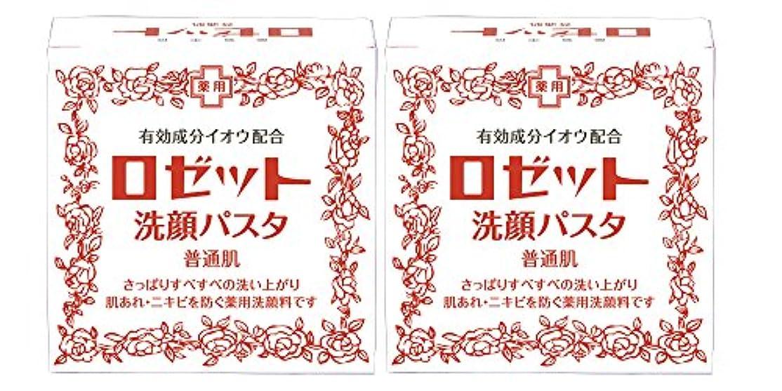 スローガンチャーミングこっそりロゼット洗顔パスタ 普通肌 90g×2個パック (医薬部外品)
