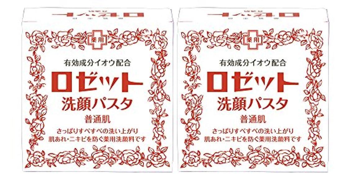 ラップ承認するすり減るロゼット洗顔パスタ 普通肌 90g×2個パック (医薬部外品)