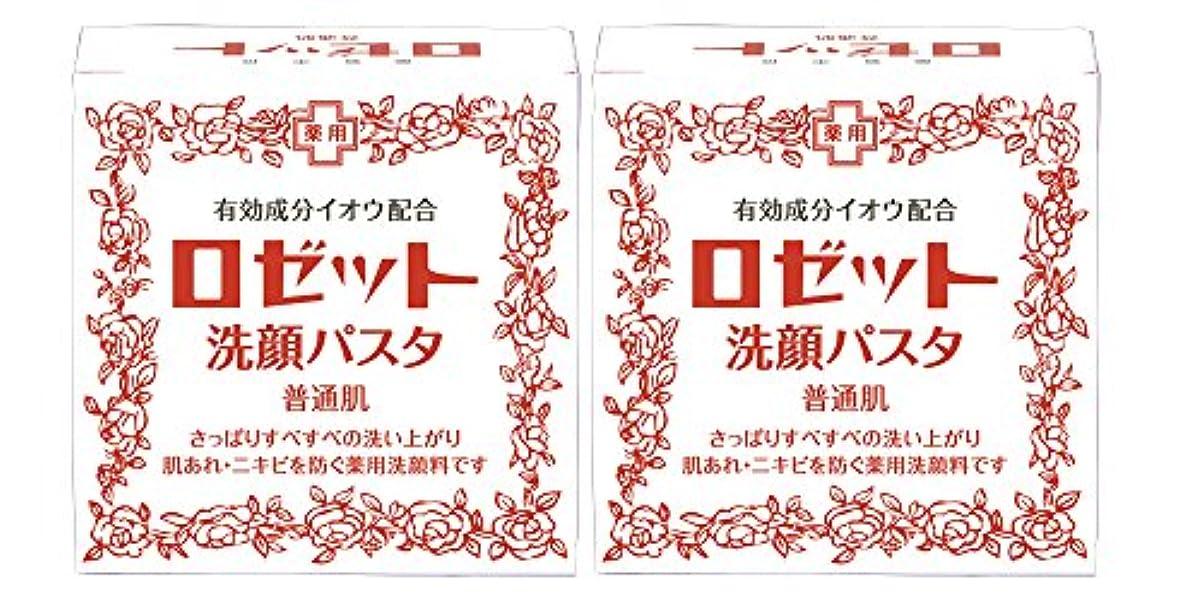 普通の数学者消すロゼット洗顔パスタ 普通肌 90g×2個パック (医薬部外品)