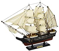 Hampton Nautical Wooden Moby Dick - Pequod Model Whaling Boat 15 [並行輸入品]