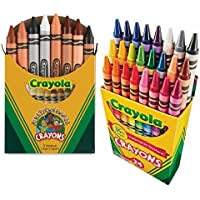 Crayola MulticulturalクレヨンAssorted、非毒性のボックス8、バンドルwith aボックスof 24 Crayolaクレヨン