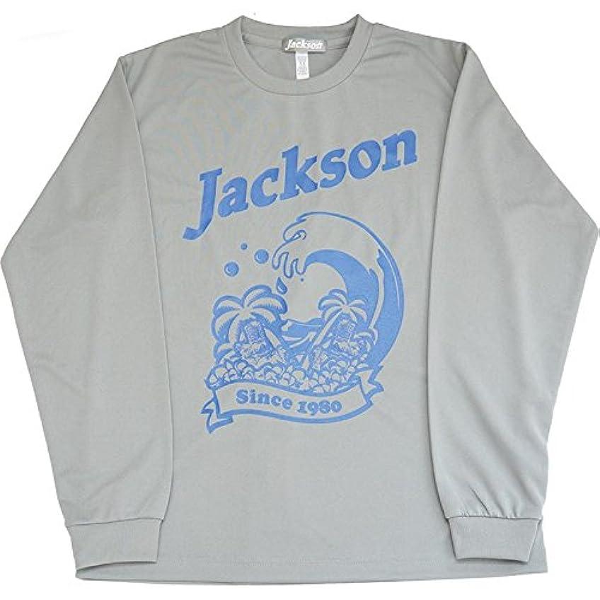 反逆ネックレス理容室Jackson(ジャクソン) Tシャツ トロピカル ロングドライ M サーフウェーブグレー
