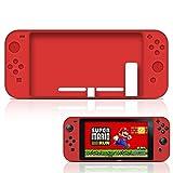 MaxKu Nintendo Switch シリコンカバー 一体型 水洗可能 着脱簡単 任天堂 ニンテンドー スイッチ シリコンプロテクタケース (レッド)