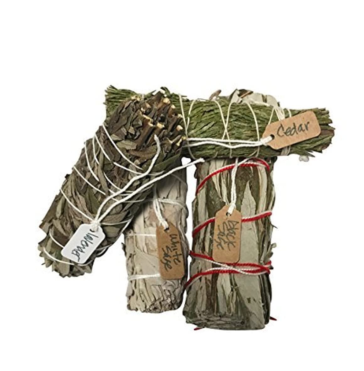 ネズミ宇宙消費者さまざまなSmudge Sticksサンプル最高級のための機会ホワイトセージ、ラベンダー、杉、ブラックセージ1つの各4 Inches Long。