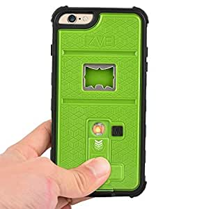 Newly High Quality ZVE?Multifunctional Cigarette Lighter Cover for iPhone 6 Plus 5.5'' Built-in Cigarette Lighter/bottle Opener/Camera Stable Tripod/Shockproof Case (Green-iPhone 6 plus 5.5'') by ZVE [並行輸入品]