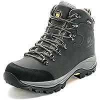 (ハイウォーク) Hiwalk 天然皮革防水通気性トレッキングシューズ 登山靴 男女兼用
