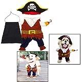 OFKPO ペット服 犬服 猫服 海賊大変身衣装 コスプレ ハロウィン クリスマス 可愛い かっこいい おもしろい ペット仮装( M )