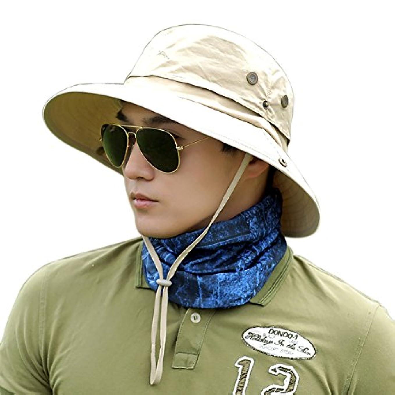 り欠陥選択するBOBORA つば広 折りたたみ 帽子 サファリハット 日除け UVカット 率 99.9% 以上 UPF50+ サーフハット ひも付き ユニセックス アウトドア ハイキング キャンプ 登山 釣り フィッシング ハット