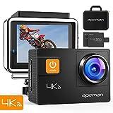 【新型】APEMAN A80 アクションカメラ 4K画質 2000万高画素 光学4倍ズームレンズ WIFI搭載 40M防水 170度広角調整可能 手ブレ補正 HDMI出力 スポーツカメラ アクセサリー多数 バイク/自転車/車に取り付け可能 専用バック付き 1050mAh大容量バッテリー2個 ウェアラブルカメラ・アクションカム