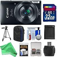 Canon PowerShot ELPH 190IS Wi - Fiデジタルカメラ(ブルー) with 32GBカード+ケース+バッテリー+三脚+ Essential digitalandmoreキット