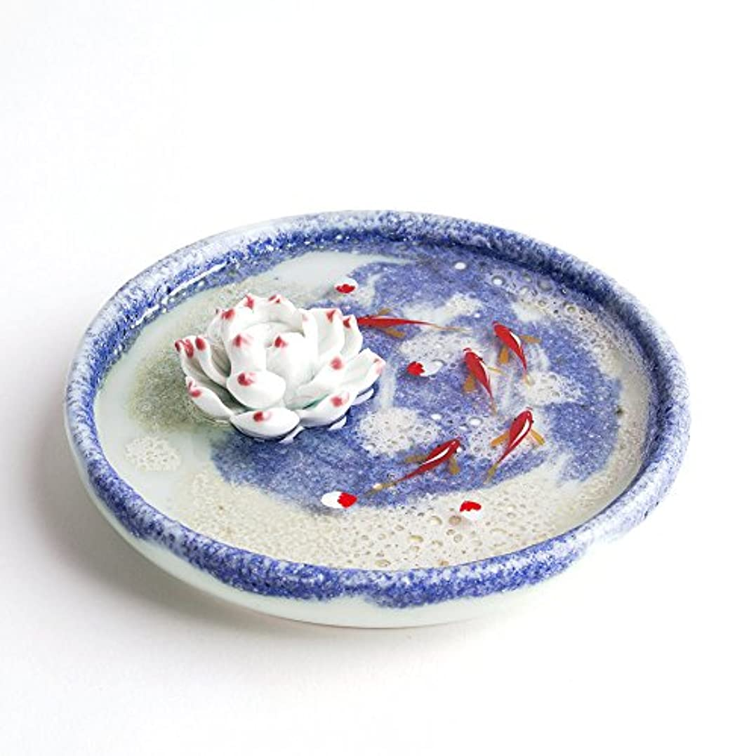 佐賀指紋咳お香立て お香たて 香の器 お香を焚いて 香皿,陶磁器、ブルー