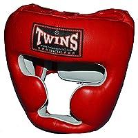 TWINS本革製ヘッドガード 赤 PTTW3190 キッズサイズあり/トップファイター トレーニング映像付