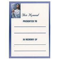 イエスのメモリに寄付Bookplates for–教会のセット50