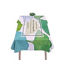 葉のテーブルクロス、創造的な植物の布アートの綿とリネン小さな新鮮なレストランのコーヒーテーブル防水長方形のテーブルクロス60-220CM (色 : A, サイズ さいず : 85*85CM)