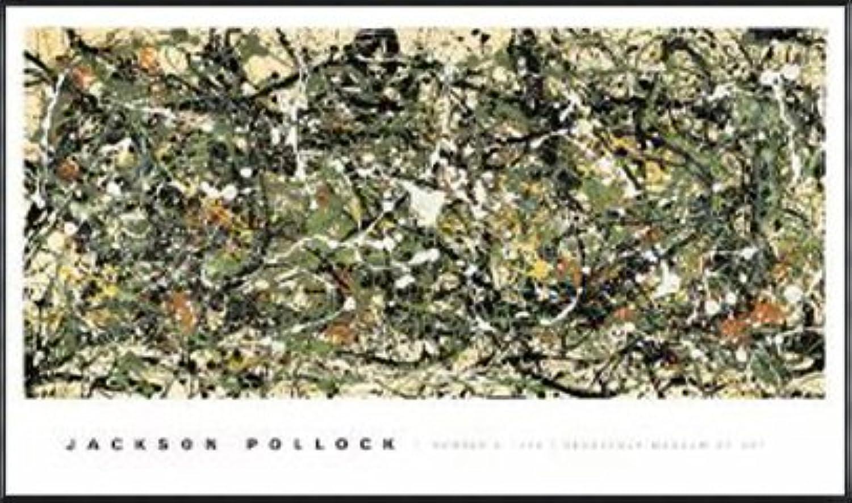 ポスター ジャクソン ポロック Number 8 1949 額装品 アルミ製ハイグレードフレーム(ブラック)