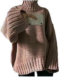 (S.W.グロッシィ) S.W.Grossy レディース ゆったり 無地 ハイネック セーター