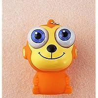 幼児期のゲーム 漫画かわいい大きな目動物の表現キーチェーンおもちゃのペンダント(猿)